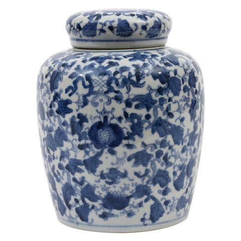 "Decorative Ceramic Ginger Jar (8.25"") - Blue/White - 3R Studios - image 1 of 3"