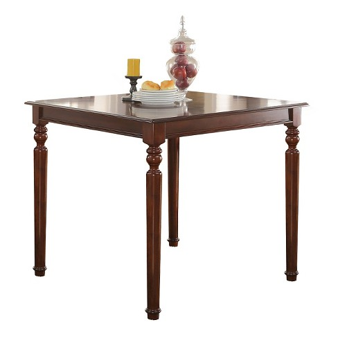 Weldon Counter Height Dining Table - Cherry and Black - Acme - image 1 of 2