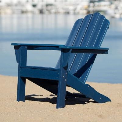 Marina Outdoor Patio Adirondack Chair - LuXeo