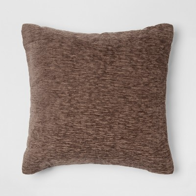 Chenille Square Throw Pillow Brown - Threshold™