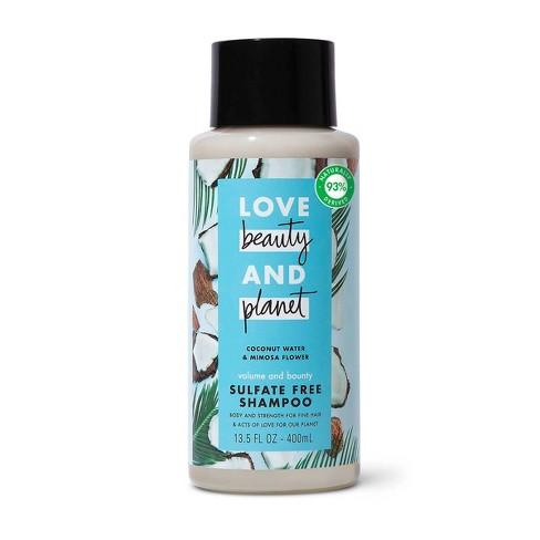Love Beauty and Planet Volume and Bounty Sulfate-free Thickening Shampoo For Thin and Fine Hair Coconut Water & Mimosa Flower - 13.5 fl oz - image 1 of 4
