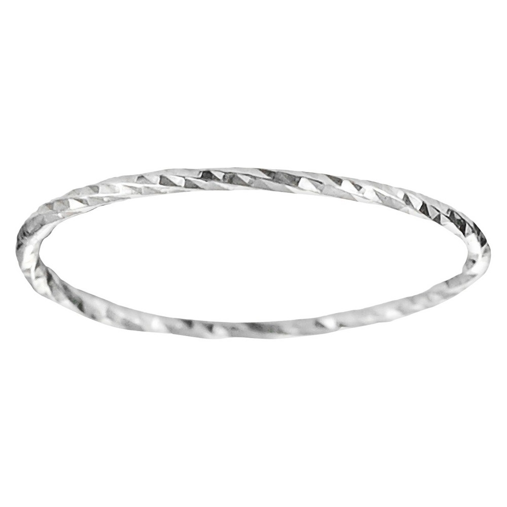 Tressa Collection Women's Handcrafted Etched Band in Sterling Silver - Silver (8)