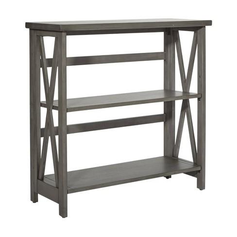 3 Shelf Hillsboro Bookcase Gray Wash - OSP Home Furnishings - image 1 of 4
