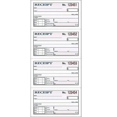 "Adams Receipt Book 2.75""L x 4.75""W 200 Sets/Book (DC1152) 195982"