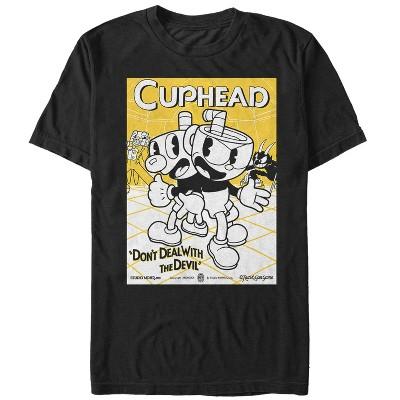 Men's Cuphead Teamwork Poster T-Shirt
