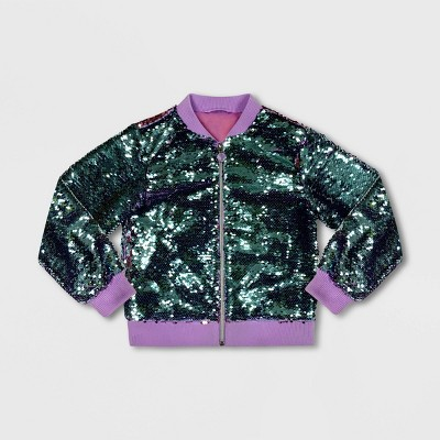 Girls' Disney Ariel Bomber Jacket - Purple/Green - Disney Store