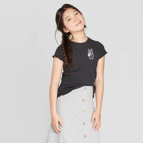 Girls' Lettuce Edge T-Shirt - art class™ - image 1 of 3
