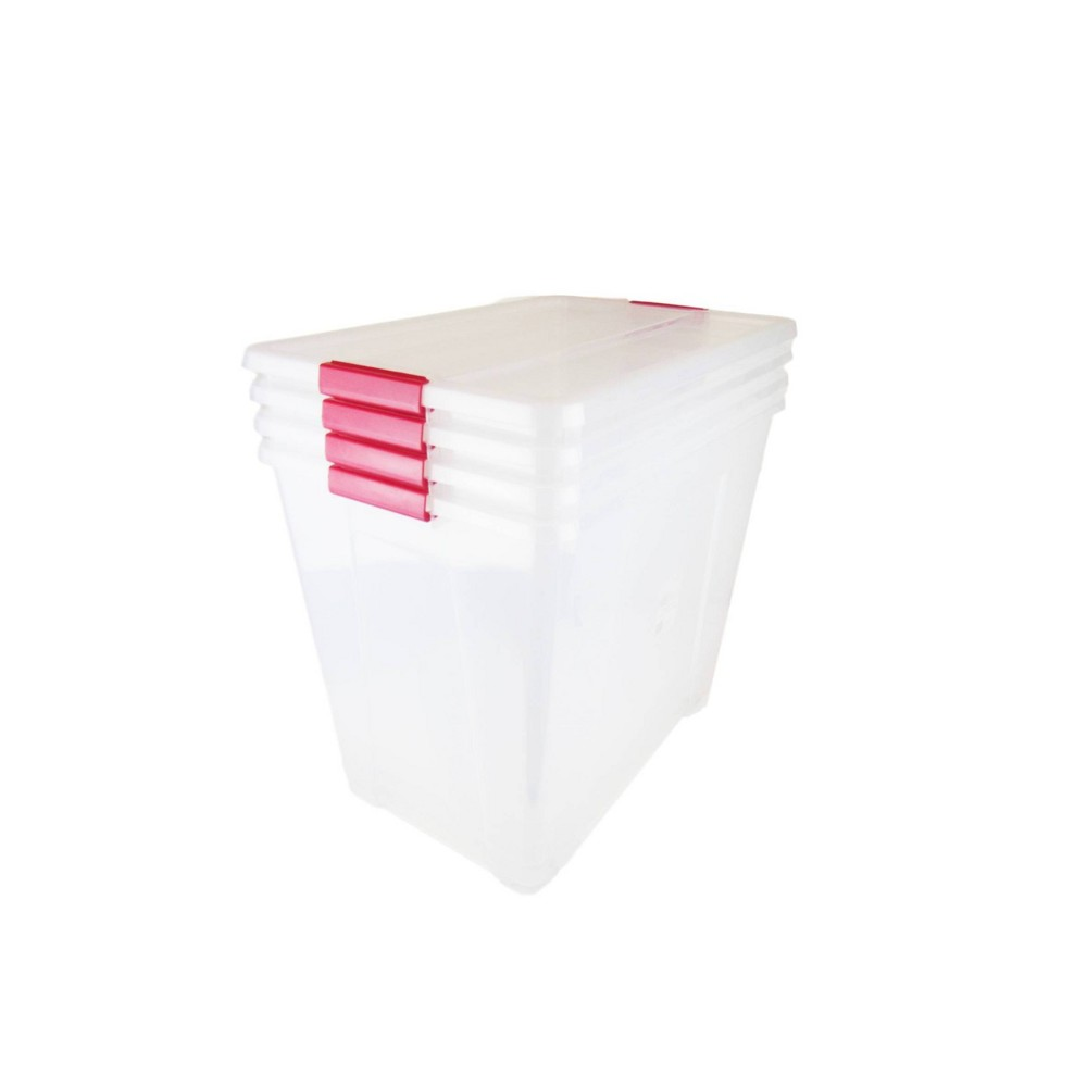 Image of 4pk 79qt/75L Storage Set - Lock & Stock, Clear
