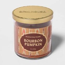 15.1oz Lidded Glass Jar 2-Wick Bourbon Pumpkin Candle - Opalhouse™
