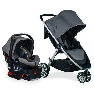 Britax B-Lively And B-Safe Ultra Travel System - Gris