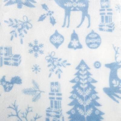 winter animals - blue