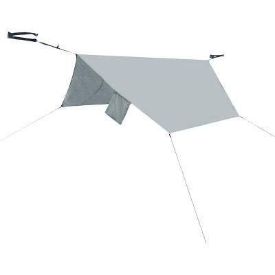 PahaQue Hammock Rain Fly for Double Hammock, Waterproof, Includes Straps, Guy Lines, Stakes, and Carry Bag