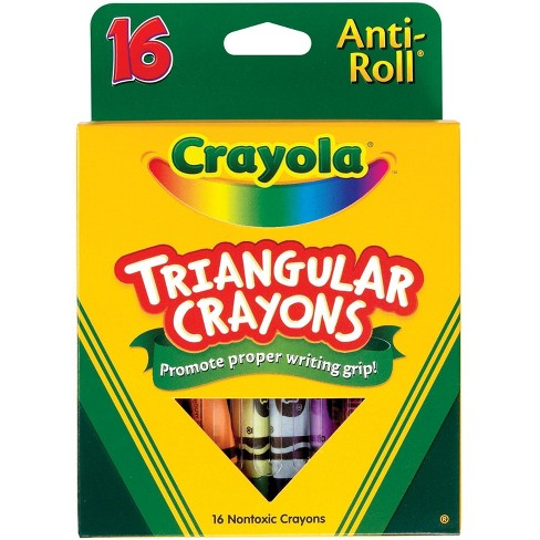 Crayola Anti-Roll Non-Toxic Triangular Crayon, 4 x 7/16 Inches, Assorted Colors, set of 16 - image 1 of 1