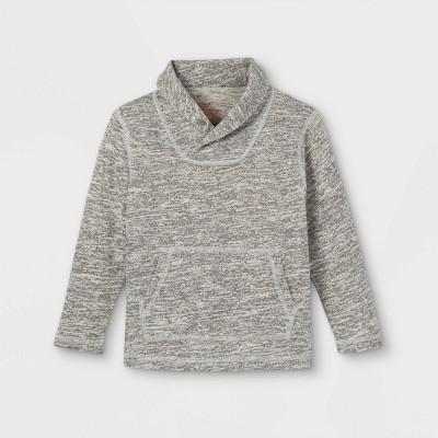 Toddler Boys' Adaptive Abdominal Access Pullover Sweatshirt - Cat & Jack™ Heather Gray