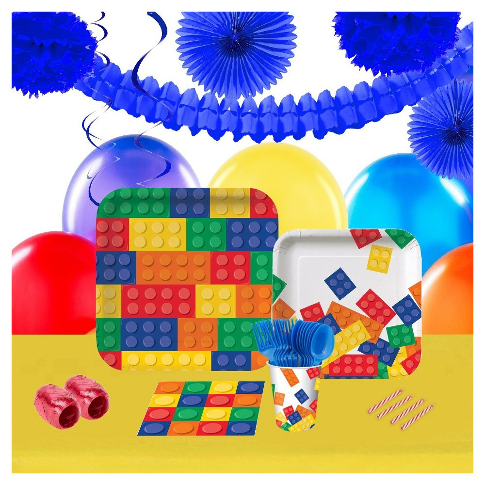 Building Block Party Supplies Collection Building Block Party Supplies Collection Gender: unisex.