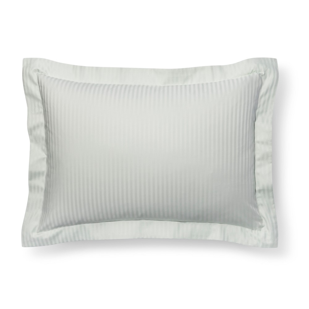 Gray Mint Damask Stripe Pillow Sham (King) - Fieldcrest