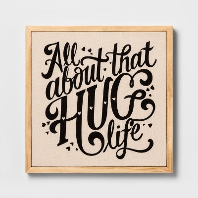 Wall Decor Canvas Hug Life - Cloud Island™ White