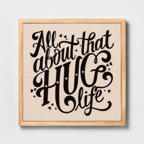 Wall Decor Canvas Hug Life - Cloud Island™ White - image 1 of 1