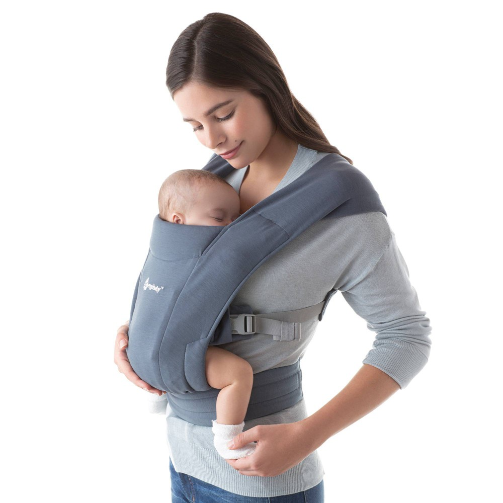 Image of Ergobaby Embrace Baby Carrier - Oxford Blue