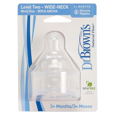 Dr. Brown's Wide Neck Nipples Level 2 (2pk)