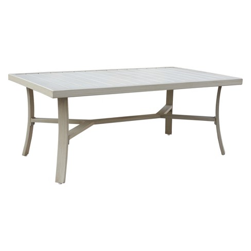 Torino Aluminum Outdoor Rectangle Coffee Table - Camel - Courtyard Casual - image 1 of 5