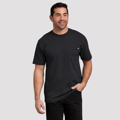 Dickies Men's Tall Short Sleeve Pocket T-Shirt - Black 4XL Tall