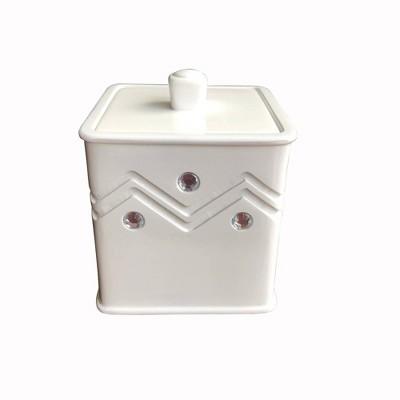 Diamond Wave Cotton Jar White - Popular Bath