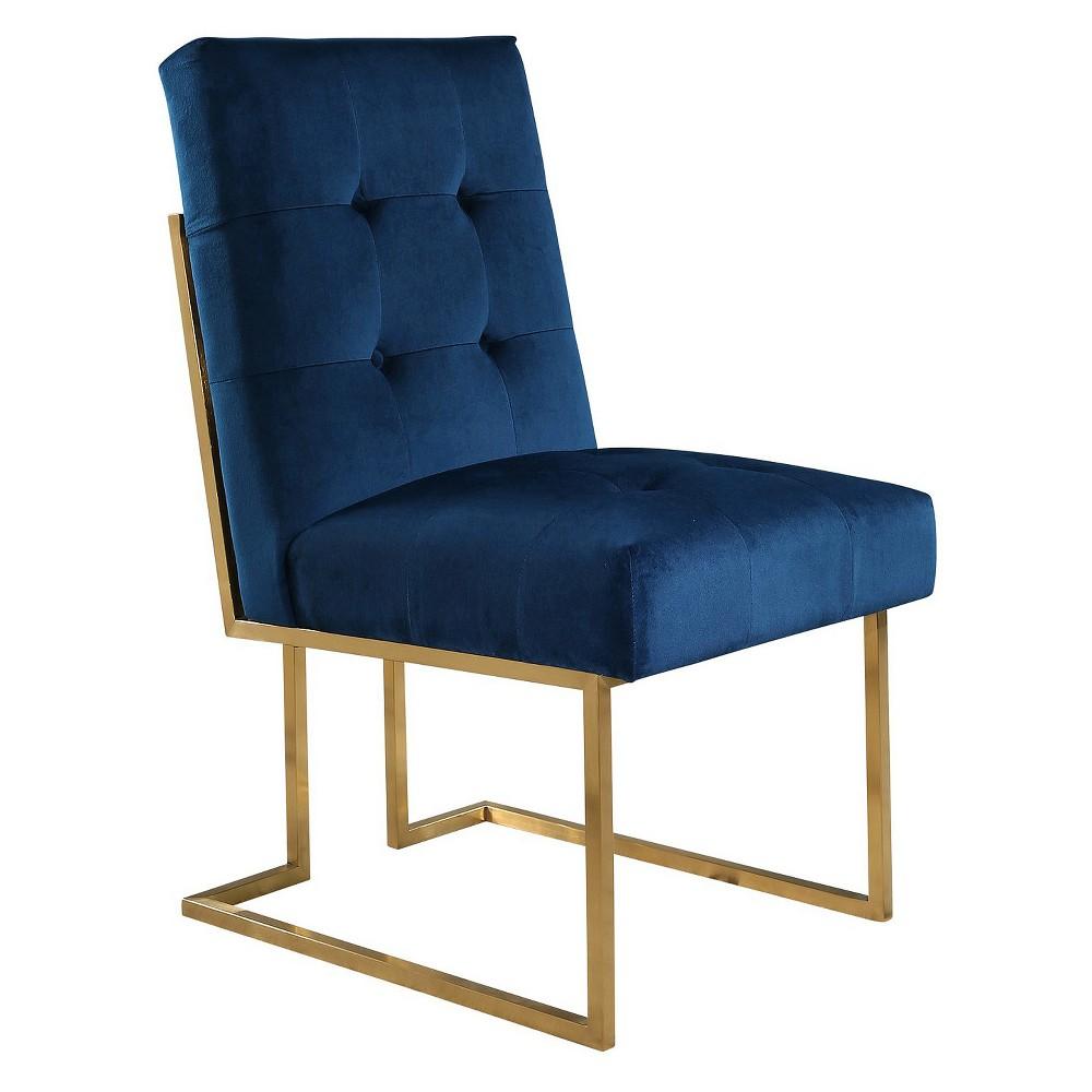Image of 27 Nieve Velvet Dining Chair - Navy Blue - Abbyson