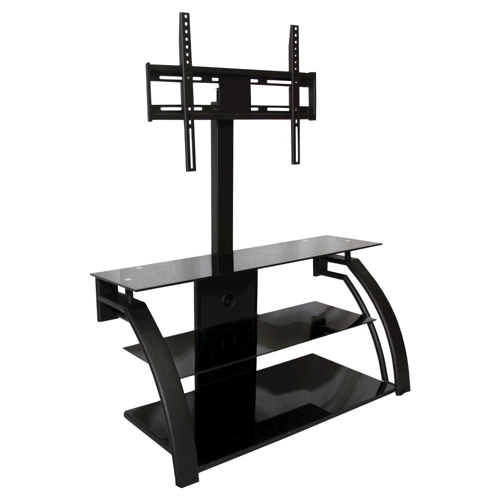 Metal and Glass TV Stand Black 45 - Home Source