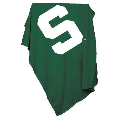 NCAA Michigan State Spartans Sweatshirt Throw Blanket