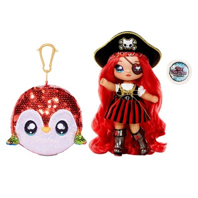 """Na! Na! Na! Surprise 2-in-1 Fashion Doll and Sparkly Sequined Purse Sparkle Series – Becky Buckaneer 7.5"""" Pirate Doll"""