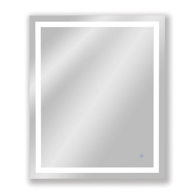 Single Frameless Dimmable LED Wall Mirror with Anti Fog Glass - Tosca
