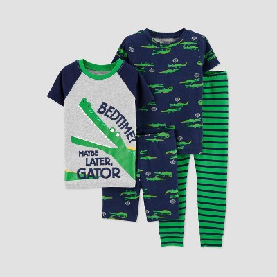 Toddler Boys' 4pc Gator Pajama Set - Just One You® made by carter's Green 3T
