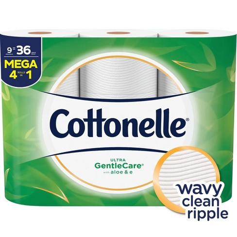 Cottonelle Gentle Care Toilet Paper 9 Mega Rolls