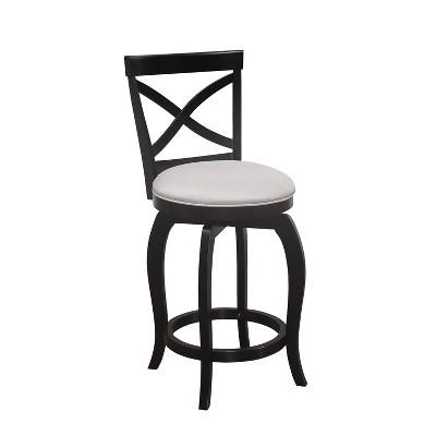 Ellendale Swivel Counter Height Barstool Black - Hillsdale Furniture