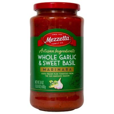 Mezzetta Artisan Whole Garlic & Sweet Basil Marinara - 25oz