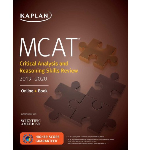 Kaplan Mcat Critical Analysis and Reasoning Skills Review 2019-2020 -  (Paperback) - image 1 of 1