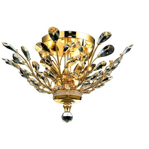 """Elegant Lighting 2011F20G Orchid 20"""" Orchid Gold Ceiling Light - image 1 of 2"""