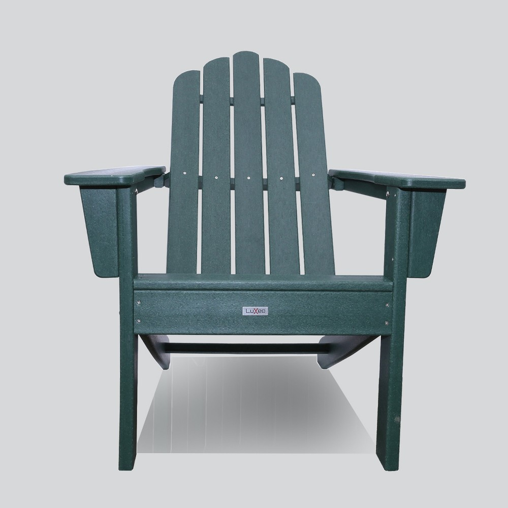 Image of Marina Outdoor Patio Adirondack Chair Green - LuXeo