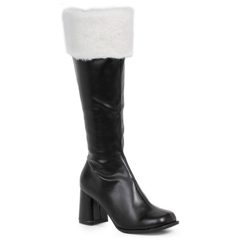 Black Gogo Costume Boots with Faux Fur - image 1 of 1