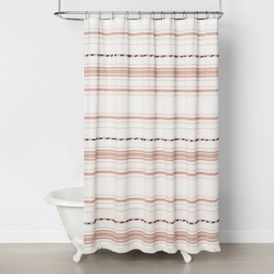 Pom Pom Shower Curtain Gold - Hearth & Hand™ with Magnolia