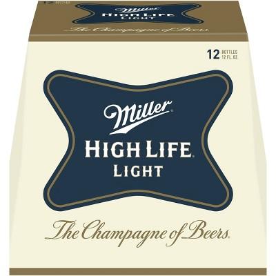 Miller High Life Light Beer - 12pk/12 fl oz Bottles