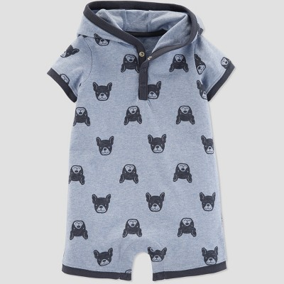 Baby Boys' Frenchie Dog Romper - Just One You® made by carter's Blue 3M
