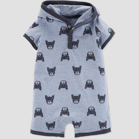 542ec68f1762 Baby Boys  Frenchie Dog Romper - Just One You® Made By Carter s Blue ...