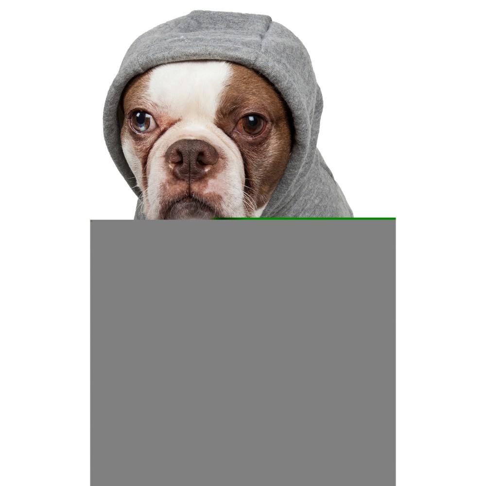 Fashion Plush Cotton Pet Hoodie Hooded Sweater - Gray - S