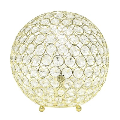 "10"" Elipse Crystal Ball Sequin Table Lamp Gold - Elegant Designs"