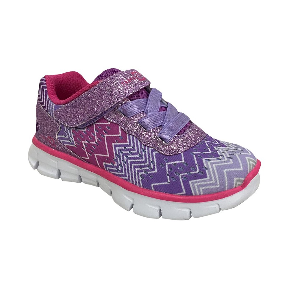 Toddler Girls' S Sport By Skechers Zig Zagz Performance Athletic Shoes - Purple 5
