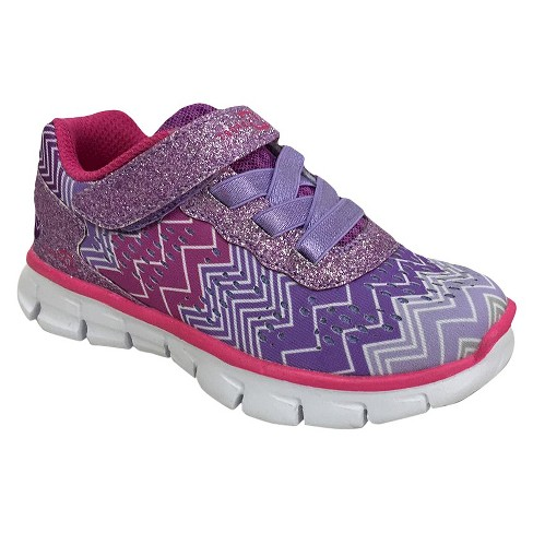 Toddler Girls' S Sport By Skechers Zig Zagz Performance Athletic Shoes - Purple - image 1 of 4