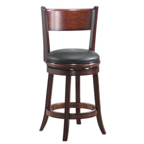 Palmetto Swivel Counter Stools Hardwood/Chestnut - Boraam - image 1 of 1