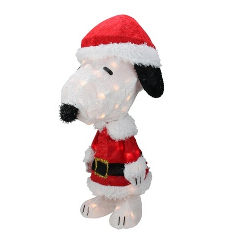 "Peanuts Christmas 24"" Prelit Snoopy In Santa Suit Outdoor Decoration - Clear Lights : Target"